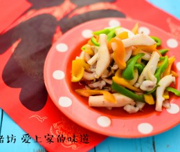 甜椒炒花枝