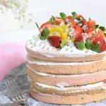 爱心水果裸蛋糕