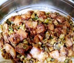 山西运城名菜—蒸菜(猪肉拌菜)