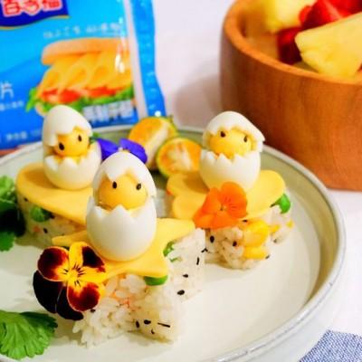 小鸡芝心彩蔬饭团