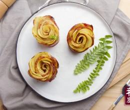 小羽私厨之培根土豆玫瑰卷