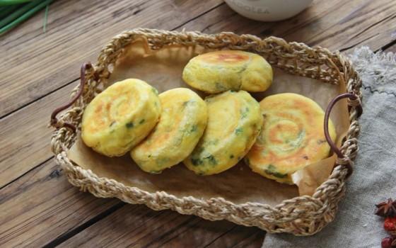 南瓜香葱饼