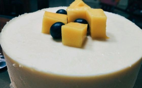 牛奶芒果慕斯蛋糕6寸