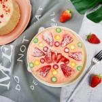 爆浆草莓奶盖蛋糕