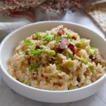 腊肉毛豆糙米饭