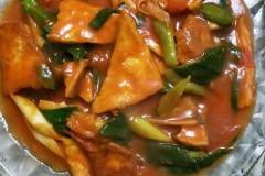 茄汁蒜苗豆腐