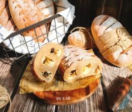 干果乳酪奶茶全麦软欧 波兰种 一定要试一试的早餐面包