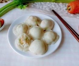 虾芹姜胡蒸胖团