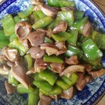 青椒炒鸭胗