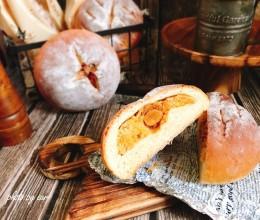 小麦胚芽肉松蛋黄软欧(波兰种)营养早餐面包