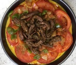 鸡蛋番茄肥牛拼