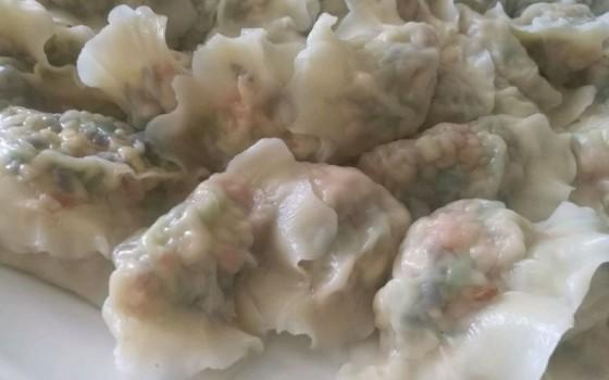 蒜苔馅饺子