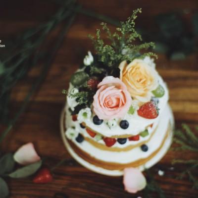 鲜花水果裸蛋糕