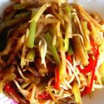 芹菜土豆炒粉条