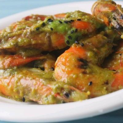 豆蓉奶酪虾