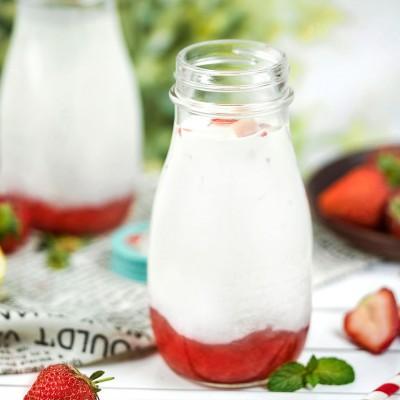 网红韩式草莓牛奶