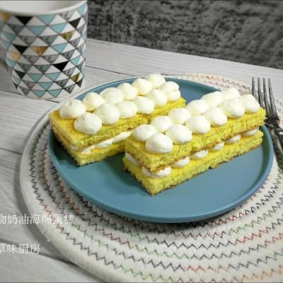 动物奶油海绵蛋糕