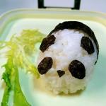 可爱熊猫饭团