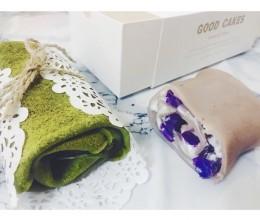 超赞  抹茶&紫薯  毛巾卷