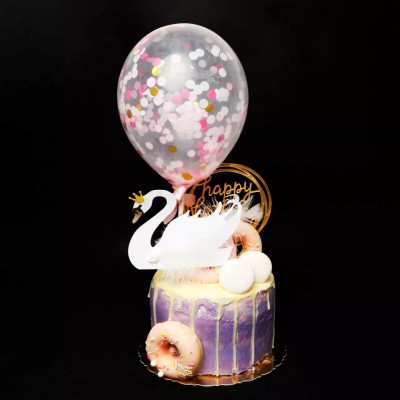 网红甜品-芝士淋面滴落蛋糕
