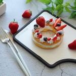 草莓花環泡芙
