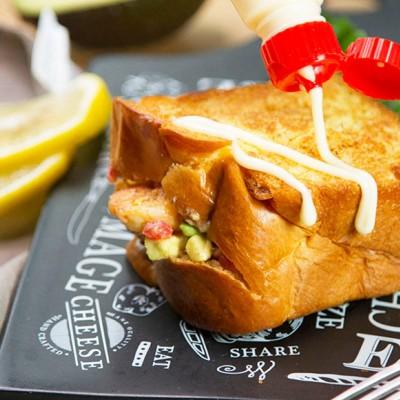 鲜虾口袋三明治
