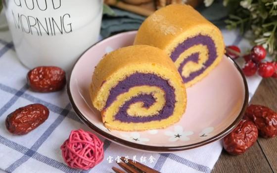 宝宝辅食-紫薯蛋糕卷