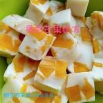 椰香芒果奶冻