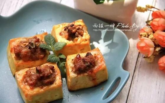 空气炸锅食谱-酿豆腐