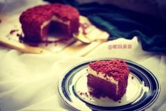 红丝绒双层芝士蛋糕