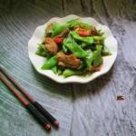 蒜香五花肉炒扁豆
