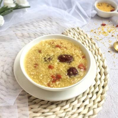 红枣枸杞金米粥