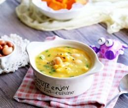 南瓜油菜疙瘩汤