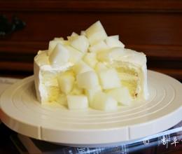 甜瓜瀑布蛋糕