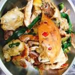 姜蒜炒花蟹