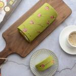 櫻花抹茶芒果蛋糕卷
