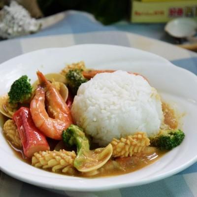 咖喱海鲜饭#亮出喱的厨艺#