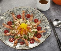 勺子点球——清蒸相橘对虾,柠檬南瓜丝