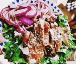 减脂餐-香煎鸡胸肉沙拉