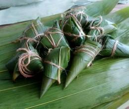 绿黍红花枣生粽