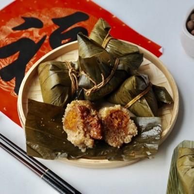 咸蛋黃五花肉粽