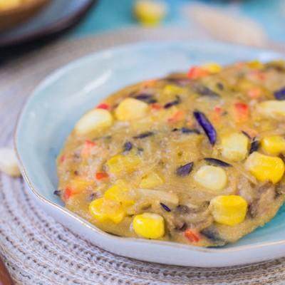 玉米茄子饼