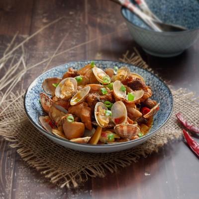 香辣蛤蜊鸡