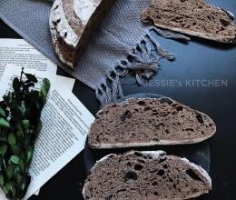 黑橄榄黑麦欧包