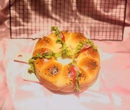 花环汉堡面包