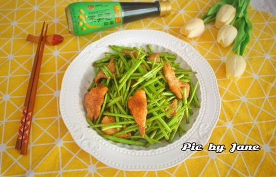 芦蒿炒肉片
