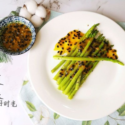 百香果醬佐蘆筍