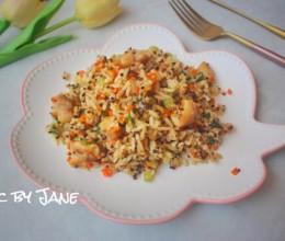 藜麦鸡肉丁炒饭