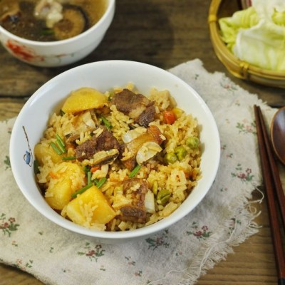 电锅土豆排骨焖饭#我的玩味生活#