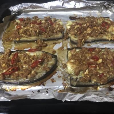 香烤蒜蓉肉末茄子
